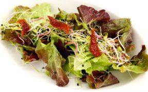 Cómo hacer ensalada de remolacha,lechuga y germinados de cebolla