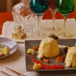 Flan de queso con coliflor