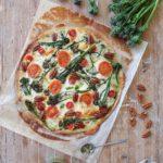 Prepara una deliciosa pizza con bimi y pesto