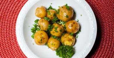 Deliciosas patatas con perejil